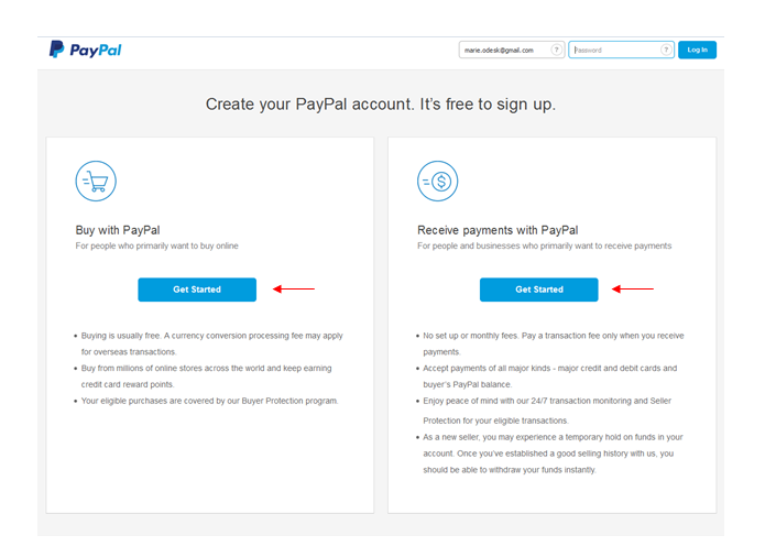 paypal login my account